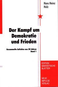 Cover Der Kampf um Demokratie und Frieden
