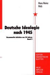 Cover Deutsche Ideologie nach 1945